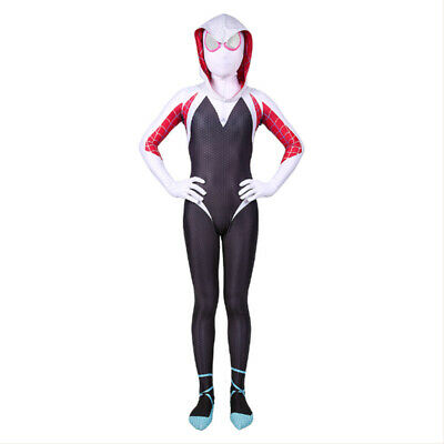 Spider-Man: Into the Spider-Verse Gwen Stacy Kids Costume Jumpsuit Cosplay