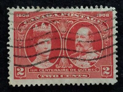 1908  2 Cent  (Carmine) Scotts# 98  Queen Alexandra & King Edward  Canada Stamp!