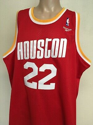 sneakers for cheap 68ff6 e8116 REEBOK HOUSTON ROCKETS CLYDE DREXLER the Glide JERSEY Red 3XL Throwback  94-95
