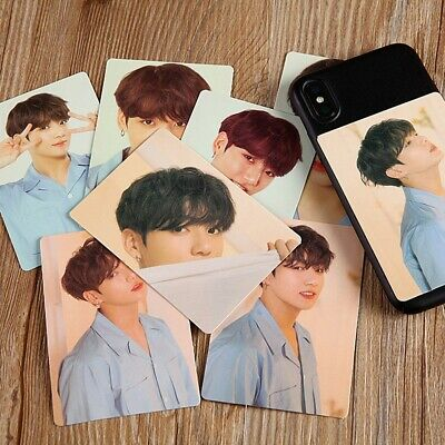 8Pcs KPOP BTS Bangtan Boys Love Yourself Album Photo Sticker Hip Hop Photocard