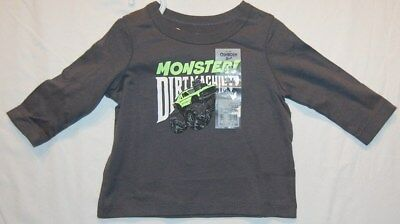 NWT OshKosh 6 months L/S Shirt Monster Truck Dirt Machine