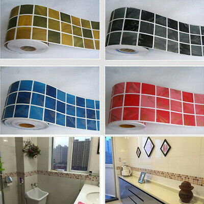 Self-adhesive Mosaic Wall Stickers Kitchen Peel Off & Stick Waterproof Wallpaper