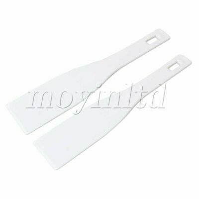 Plastic Printing Shovel Printing Spatula Ink Scoop Silk Screen Set of 2 White