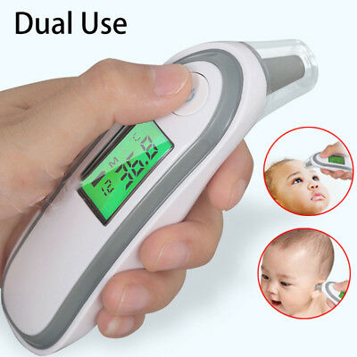 Digital Baby Adult IR Infrared Ear Forehead Thermometer Fever Temperature Meter