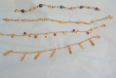 Collection Of 4 Gold Plated Bracelets W, Nice Designs
