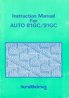 Brother Knitking Auto 81/91 GARTER CARRIAGE - INSTRUCTION MANUAL *NEW* Mfg Orig