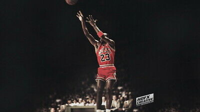 "424 Michael Jordan - MJ 23 Chicago Bulls NBA MVP Basketball 42""x24"" Poster"