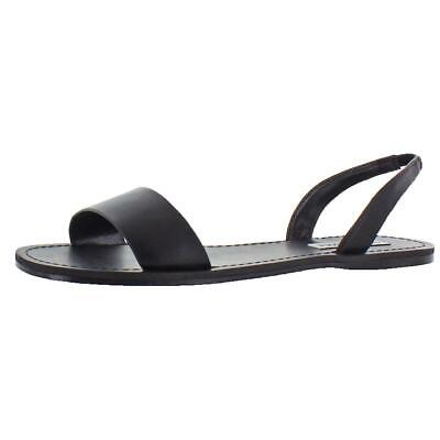 8458cbf8c24 STEVE MADDEN WOMENS Alina Black Flat Sandals Shoes 10 Medium (B