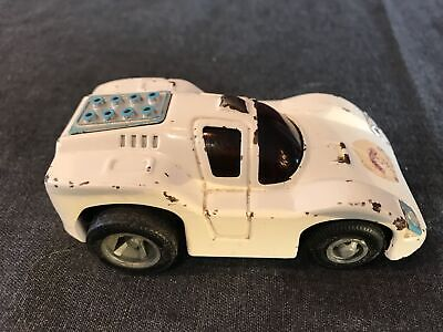 Vintage White Tonka Toy All Steel Race Car