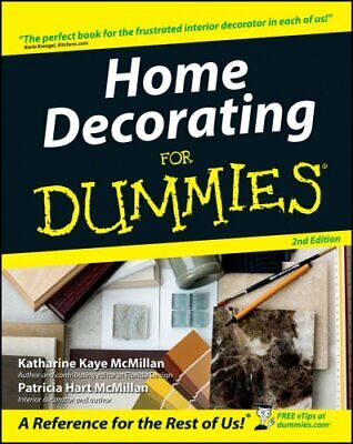 Home Decorating For Dummies by Patricia McMillan 9780764541568 (Paperback, 2003)