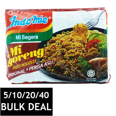 INDOMIE MI GORENG INSTANT STIR FRIED DRY CURLY NOODLES INDONESIAN FOOD 85g