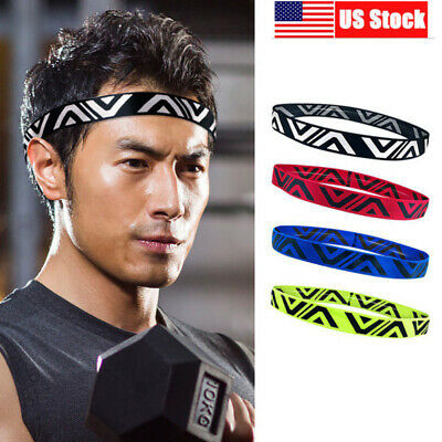 Honbay 10pcs Anti Slip Thin Elastic Black Sports Headbands Yoga