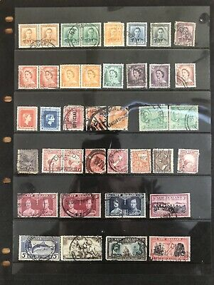 NEW ZEALAND - Beautiful selection of mixed PRE-DECIMAL USED Stamps