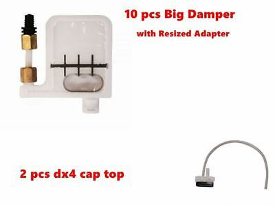 DX4 Big Damper with Resized Adapter +DX4 Cap Capping Top for Roland Mimaki Mutoh