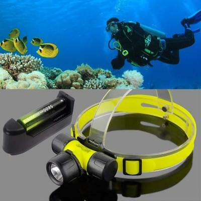 2500LM  Q5 LED Diving Headlamp Headlight +18650 Battery&Universal Charger BE