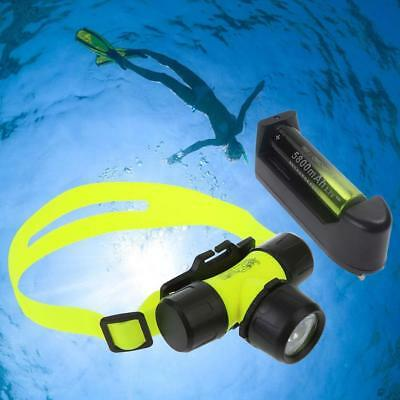 2500LM  Q5 LED Diving Headlamp Headlight Light +18650 Battery & Charger BE