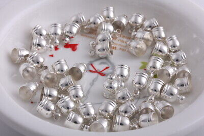 50 pcs Silver Plated Double wire Brass Caps Fringed copper caps findings 9mm