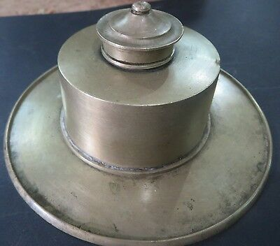 Antique Brass inkwell Pot writing ink pot English pattern nostalgia Collection