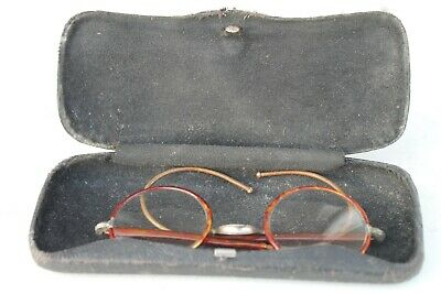 Rare Antique Vintage Old Wide Round Glasses