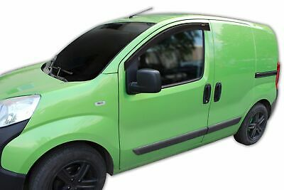 FIAT FIORINO 2007- up ADHESIVE WIND DEFLECTORS 2pc TINTED SCOUTT