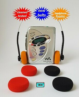Walkman cassette radio player SONY NEW BELTS & FOAMS CLEANED WORKING & TESTED!
