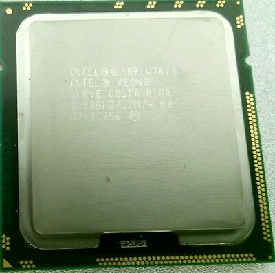 Intel SLBVE Xeon W3670 3.20GHz CPU PROCESSOR