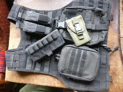 5.11 Tactical MOLLE Vest in Black Size Regular And Pouches.