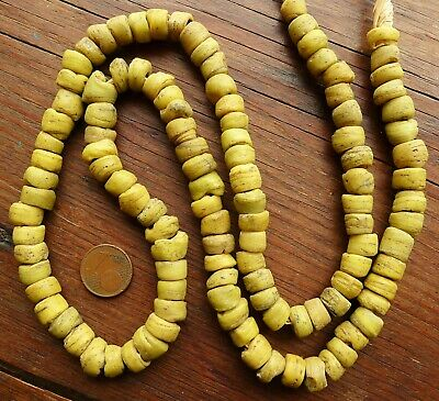 66cm Pearl HEBRON Antique Glass Africa Antique African Glass Trade Bead Israel 3