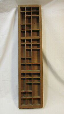 Vintage Wooden 39 Section Shadow Box - Miniature Or Trinket Display