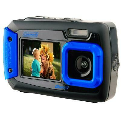 Coleman Duo2 2V9WP Rugged Dual Screen Waterproof Camera #2V9WP-BL