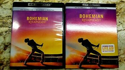 Bohemian rhapsody movie bluray only with slipcover.+code. Read.