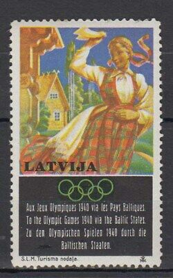 """Latvia - 1940 """"Olympic Games in Finland"""" Non-Postal Stamp"""