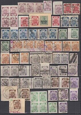 """Latvia - 1919 """"Arms"""" Stamps w/ Honeycomb Watermark (Used)"""