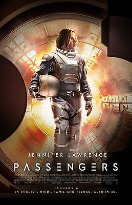 """Passengers movie poster -  11"""" x 17""""  inches - Jennifer Lawrence poster"""