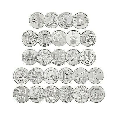 2018 Uncirculated Alphabet A to Z Full Set Of New 10p Ten Pence Coins