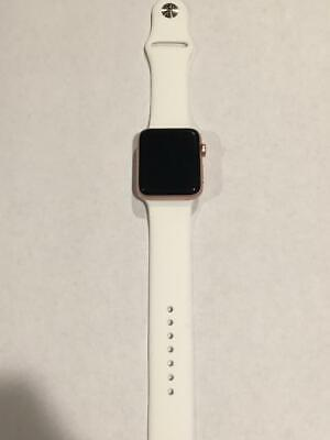Apple Watch Series 2 42mm Rose Gold Aluminum Case with White Sport Band