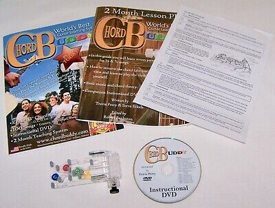 Chord Buddy~ Guitar Learning System ~ Includes; Device, 2 Books, Dvd, User Guide