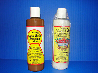 Maui Babe Before and After Sun Pack Browning Lotion 8 oz **NEW** READ!! ^^^