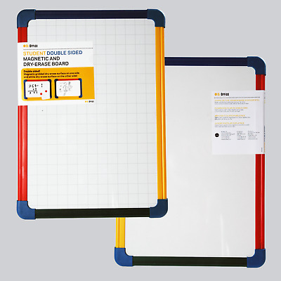 Magnetic Dry Wipe A3 Whiteboard Double Sided with Pen and Plastic Benetton Frame