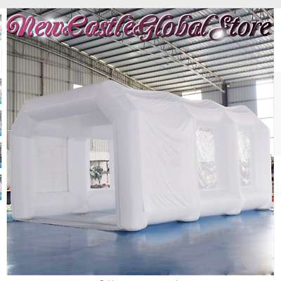 Custom Made Blanc Portable Gonflable Géant Spray Peinture Booth Pop Up