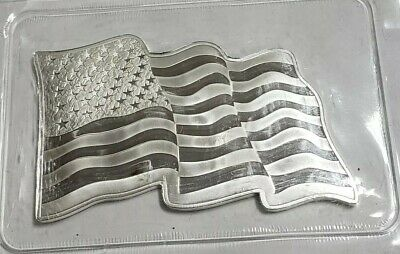 Sunshine Minting 1 Oz .999 Fine Silver American Flag In Sealed Plastic