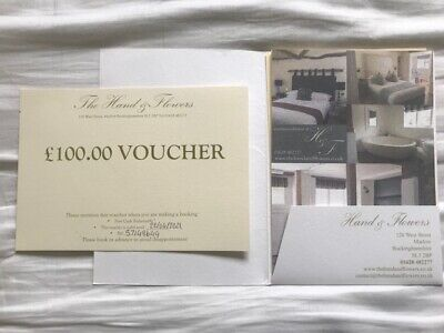 £100 Voucher for The Hand & Flowers Restaurant / Hotel in Marlow