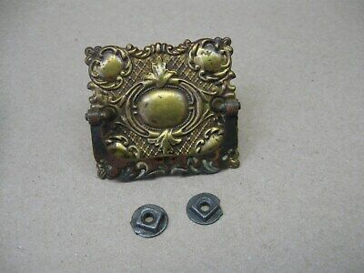 Antique 1892 Singer Treadle Sewing Machine Ornate Brass Drawer Pull & Orig Nuts