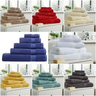 100% Egyptian Cotton Home Collection Towels Bath Sheets Extra Soft Thick 500GSM
