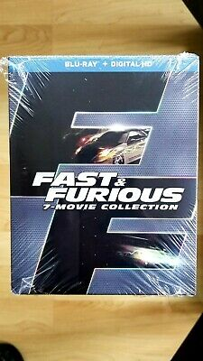 Fast and Furious 7 Movie Collection (blu ray)+digital