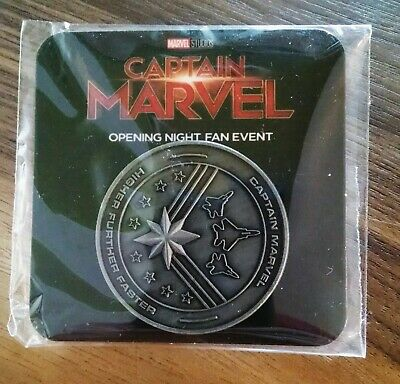 MARVEL STUDIOS CAPTAIN MARVEL Opening Night Fan Event exclusive Collectors Coin