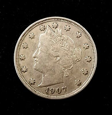 1907 Liberty Head Nickel! Sharp details!