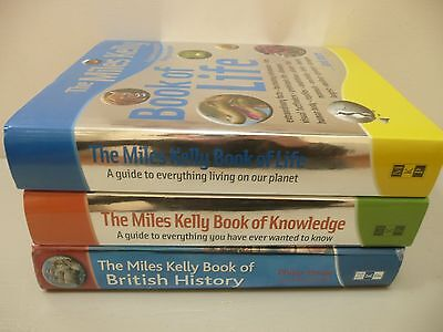 Set of 3 Miles Kelly Reference Books - Knowledge, Life & British History
