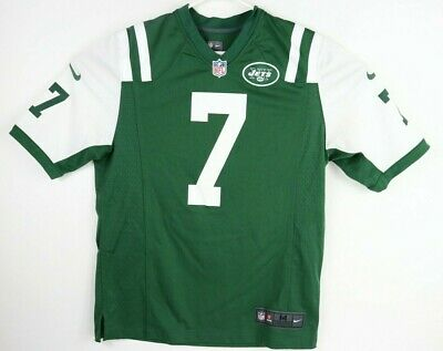 40d4d204efa NIKE NFL Onfield  7 GENO SMITH New York NY JETS FOOTBALL JERSEY Adult M