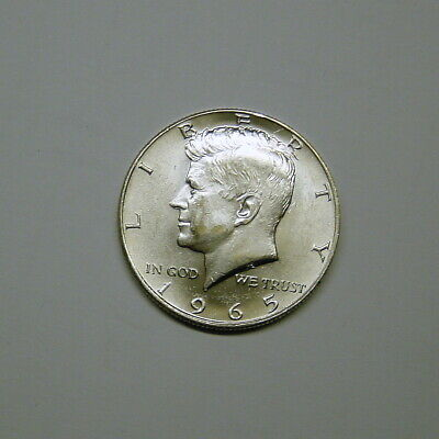 40% Silver 1965 Kennedy Half Dollar in AU